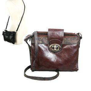 Handbags - BRACIANO BROWN BRONZE MULTI POCKET CROSSBODY BAG